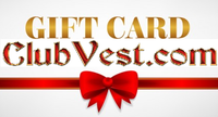 Club Vest® Gift Cards, choose $10 $25 $50 $100 $150 $200 $250 Never Expire