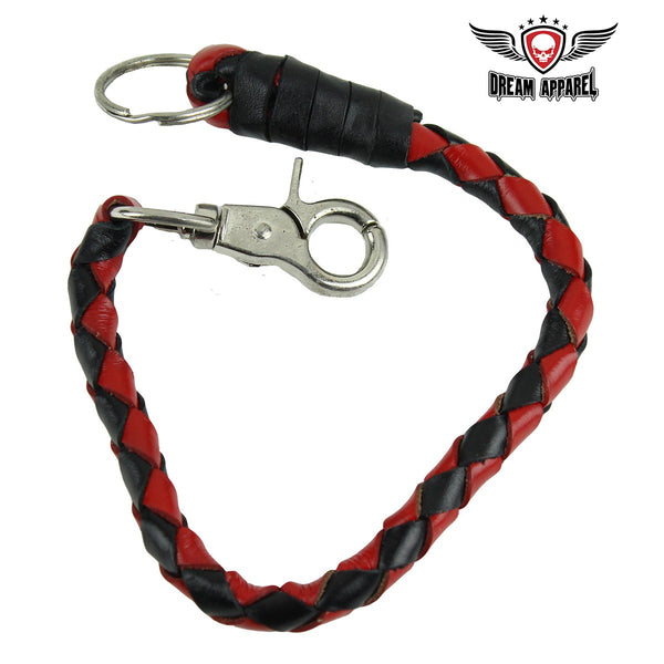 "best-motorcyle-vest - 14"" Red and Black Get Back Whip Key Chain - Club Vest Biker Motorcycle Apparel & Accessories - misc"