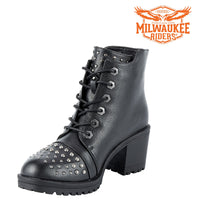 best-motorcyle-vest - Womens Milwaukee Studded Motorcycle Boots By Milwaukee Riders® - Milwaukee Riders® - Motorcycle Boots