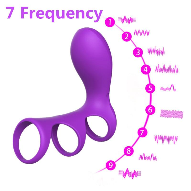 Bella Pleasure Three Ring Vibrator