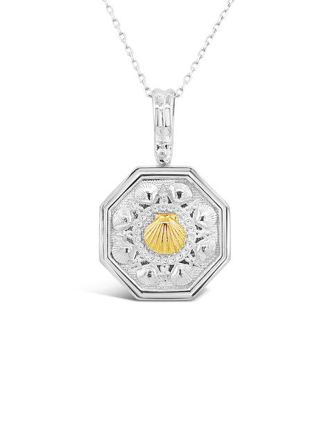 SS/14K Yellow Gold Sailor's Valentine Pendant
