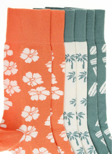 Surf 3 Pack Socks