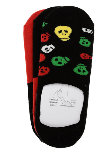 Skeleton 3 Pack Invisible Liner Sock