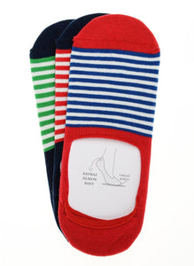 Johnny 3 Pack Invisible Liner Socks