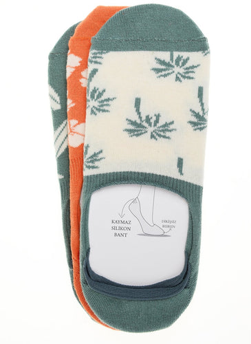 Surf 3 Pack Invisible Liner Socks