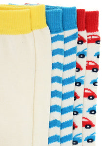 Mini Cars 3 Pack Socks