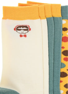 Pixter Jr. 3 Pack Socks