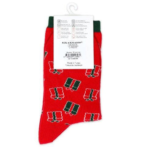 Christmas Woman Red socks