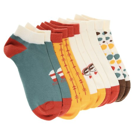 Pixter Jr. 5 Pack Low Socks