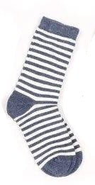 Schoolboy Grey Stripes socks