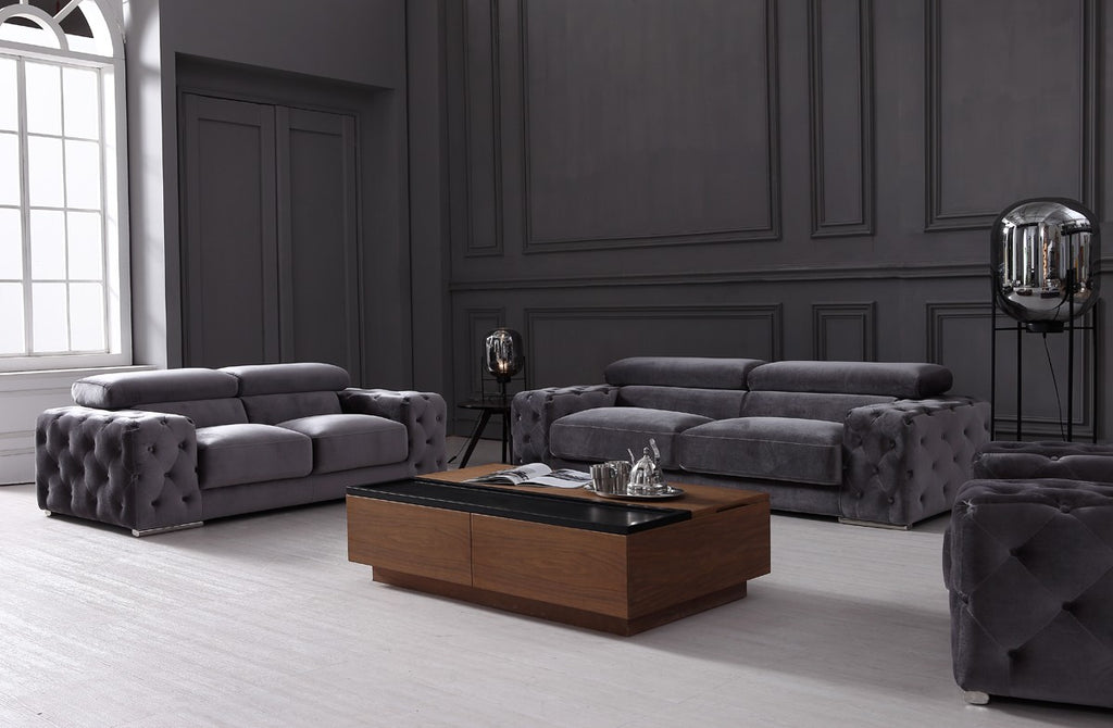 Trixie Grey 3 Piece Living Room Set