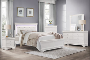 Vienna White Bedroom Collection with LED Lights
