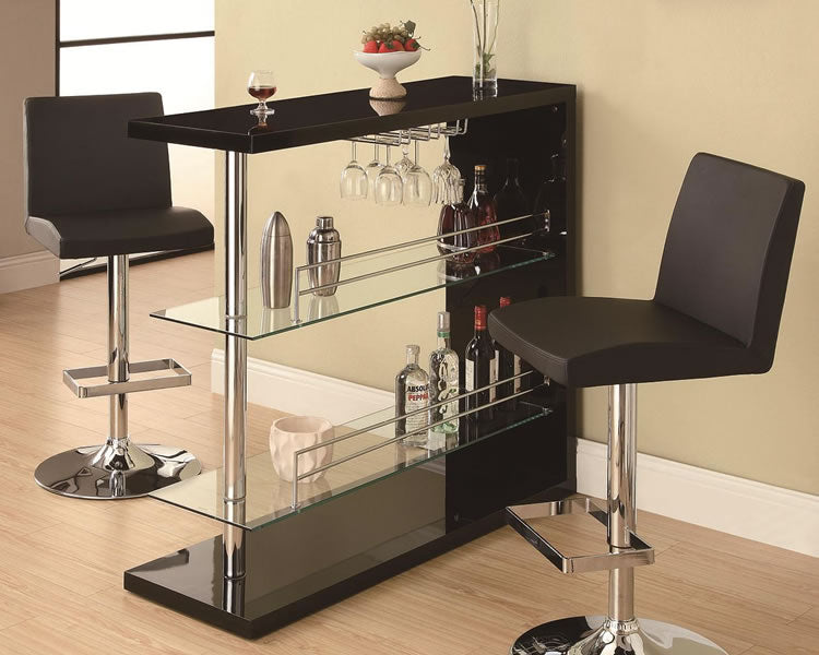 Petite Rectangular Bar Table in White, Black or Cappuccino