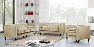 Tyler Tufted Velvet Living Room Collection in 5 Color Options