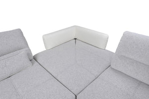Marque Dual Tone Sectional with Adjustable Backs