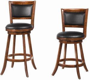 Wooden Barstool with Upholstered Back Rest