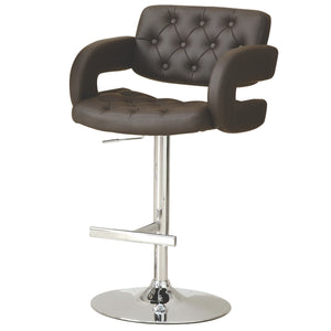 Contemporary Adjustable Height Barstool in 3 Color Options