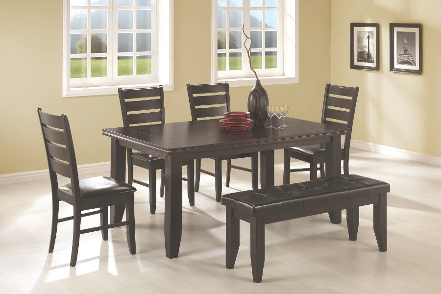 Page 6 Piece Dining Set with Bench