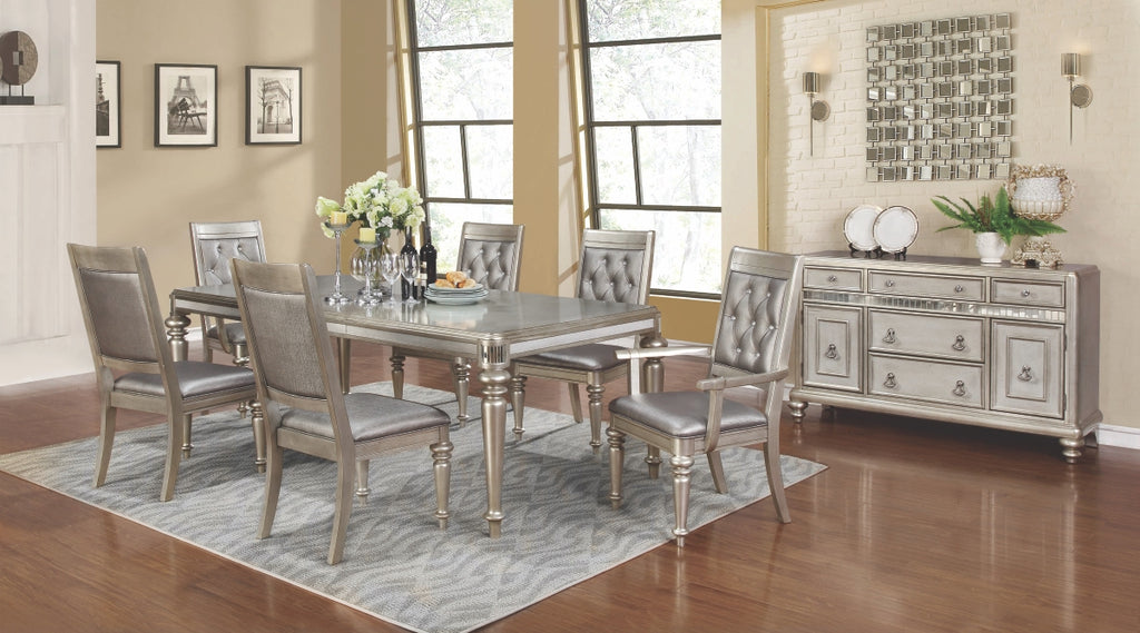 Danielle Platinum Metallic Rectangular Dining Room Collection