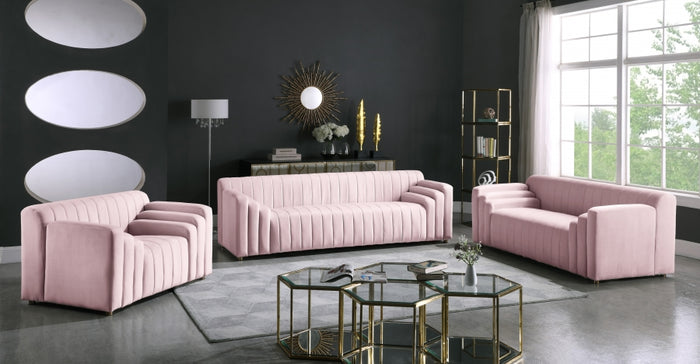 Delia Velvet Living Room Collection in 5 Color Options