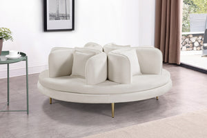 Roundabout Velvet Accent Sofa in 5 Color Options
