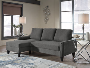 Jarred Convertible Fabric Sofa Chaise Sleeper in Blue or Gray