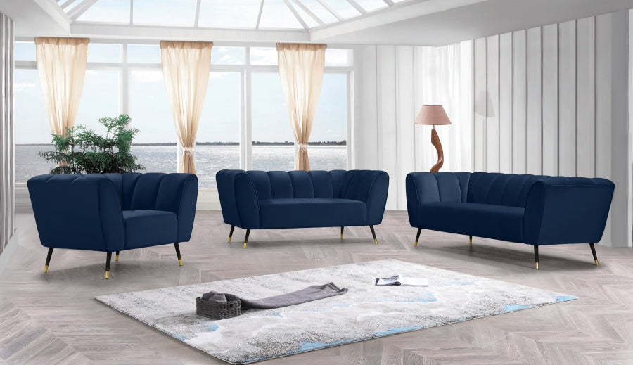 Monte Velvet Living Room Collection in 5 Color Options