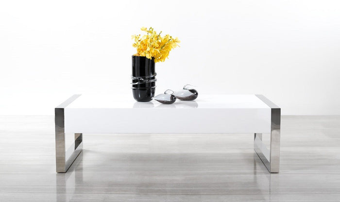 Tracy Modern White Coffee Table