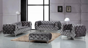 Mary Tufted Velvet Living Room Collection in 4 Color Options