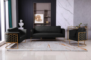 Clara Velvet Living Room Collection in 6 Color Options