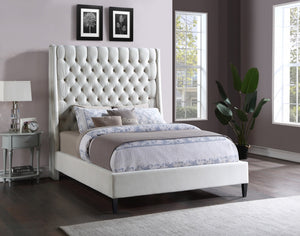 Ritz Velvet Wing Back Bed in 5 Color Options