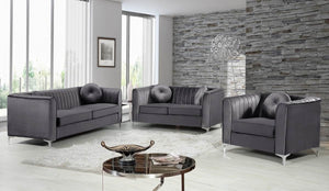 Izzy Channel Tufted Velvet Living Room Collection in 4 Color Options