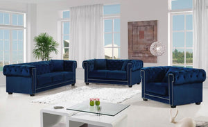 Bowie Tufted Velvet Living Room Collection in 4 Color Options