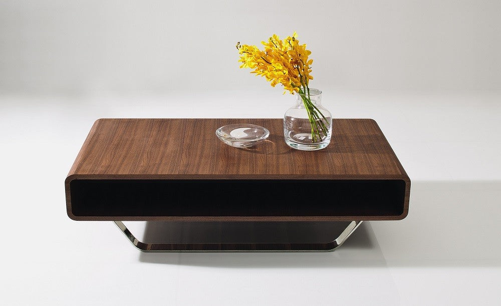 Pocket Coffee Table in Walnut Veneer Finish