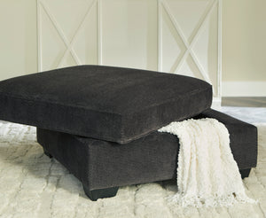 Clarendon Charcoal Fabric Sofa with Optional Queen Sleeper