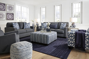 Kelsey Grey Fabric Living Room Collection with Optional Queen Size Sleeper