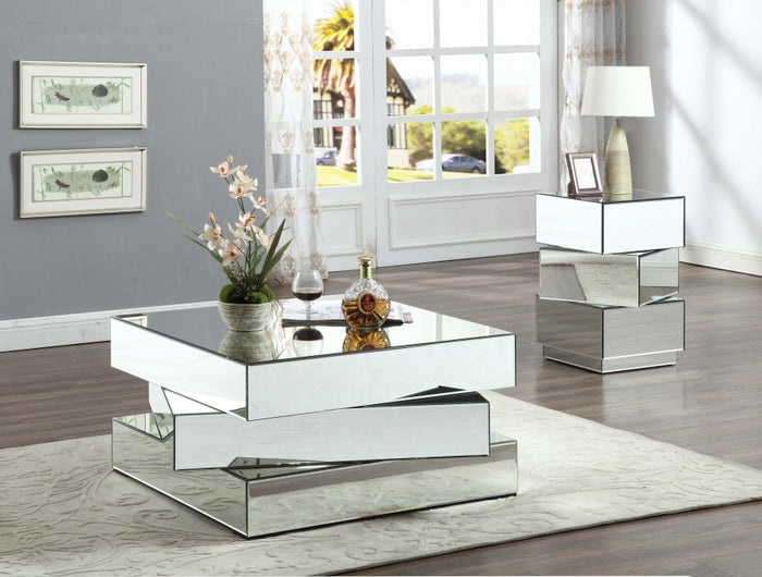Havana Stacked Mirrored Occasional Tables Collection