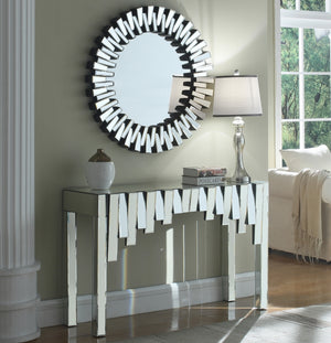 Kailah Mirrored Console Table with Optional Matching Wall Mirror
