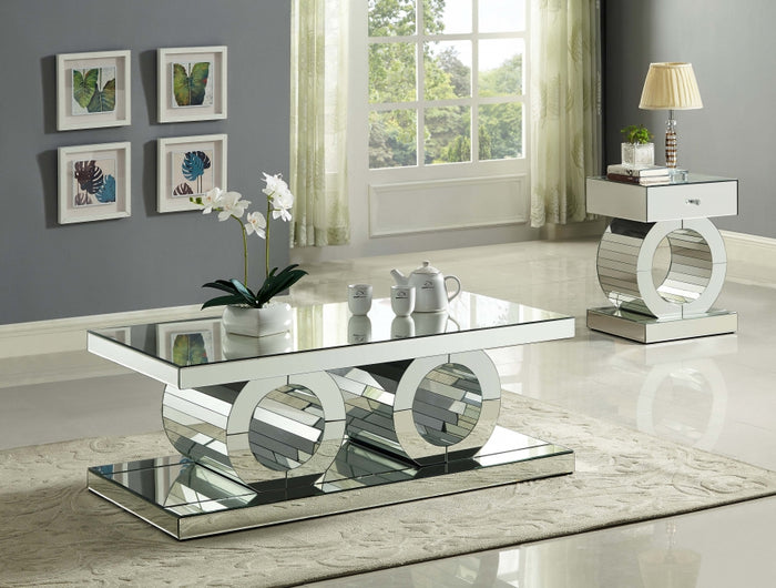 Jacqueline Mirrored Occasional Tables Collection