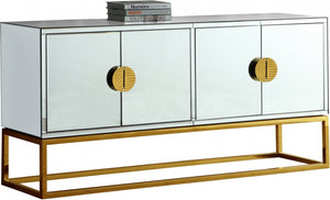 Arabella Mirrored Sideboard in Chrome or Gold Frame