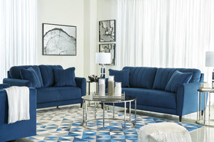 Anderson Blue Velvet Living Room Collection