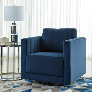 Anderson Blue Velvet Swivel Accent Chair