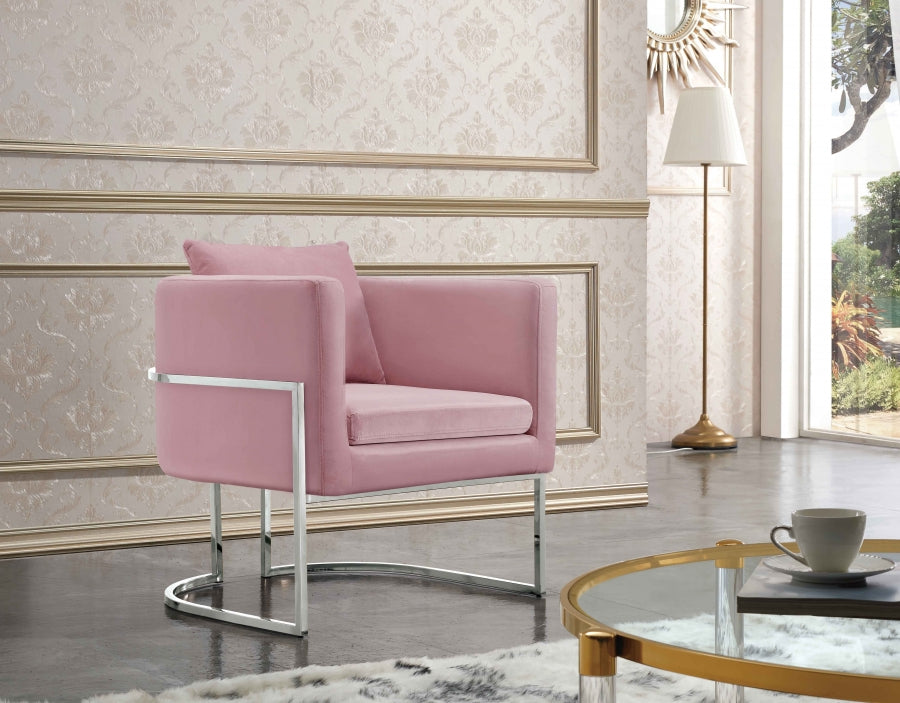 Peppa Velvet Accent Chair in Pink, Black, Grey or Navy