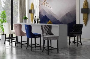 Mika Tufted Counter Height Stool in 5 Color Options