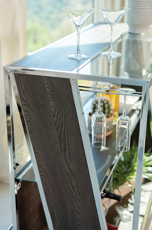 Modern Dark Oak Bar Unit