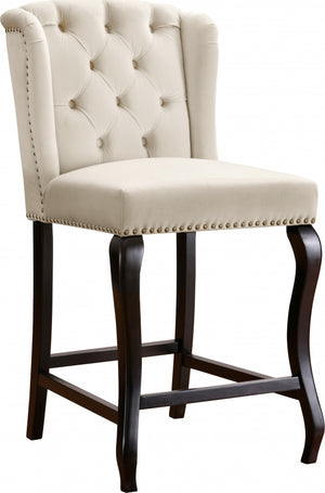 Suria Velvet Counter Height Stool in 4 Color Options