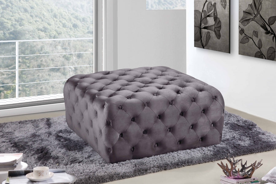 Ari Square Velvet Ottoman in 7 Color Options