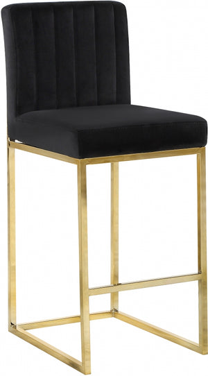 Griselle Velvet Counter Height Stool in 5 Color Options