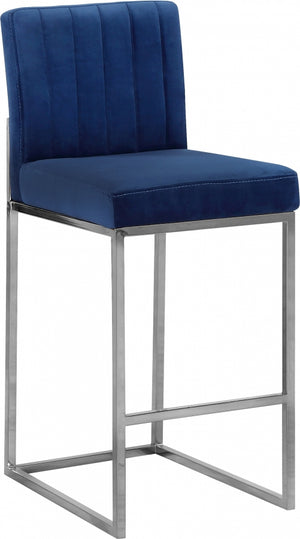 Griselle Velvet Counter Height Stool in 3 Color Options