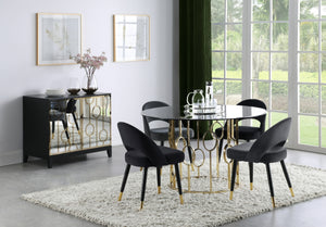 Linden Smoked Glass Dining Room Collection